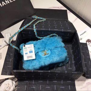 Fluffy Chanel purse